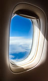 Airplane window - clouds Royalty Free Stock Image