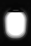 Airplane window with copy space Stock Images