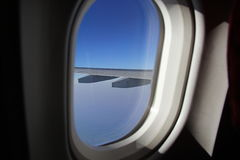 Airplane Window Royalty Free Stock Images