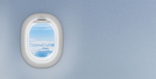Airplane Window Or Porthole With Copyspace Stock Image
