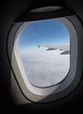 airplane window sight during flight Royalty Free Stock Images