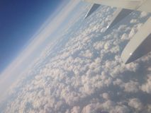 Airplane Window. An Airplane view Royalty Free Stock Photos