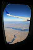 Airplane window view Royalty Free Stock Photo