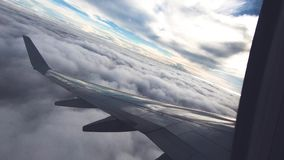 Airplane window view. Air traveling stock video