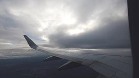 Airplane window view. Air traveling stock footage