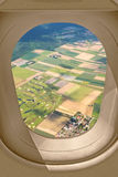 Airplane window view Royalty Free Stock Photos