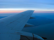 Airplane window view Royalty Free Stock Images