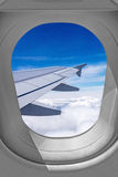 Airplane window view Royalty Free Stock Photography
