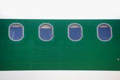 Airplane windows Stock Photography