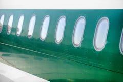 Airplane windows Stock Photo