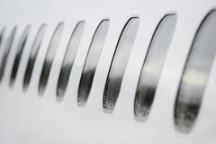 Airplane windows Royalty Free Stock Photography