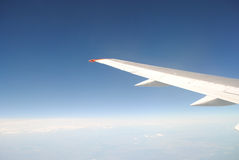 Airplane wing Royalty Free Stock Images