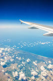 Airplane wing Royalty Free Stock Photo