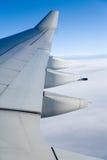 Airplane Wing. Close up shot stock photos