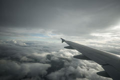 Airplane wing cloud sky Royalty Free Stock Photography
