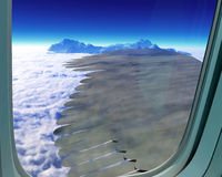 Airplane wing of feathers Royalty Free Stock Photo