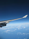Airplane Wing in Flight IMG_8303 Royalty Free Stock Image