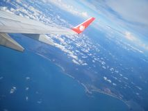 The airplane wing of Lion Air airline Stock Photography