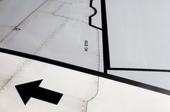 Airplane wing markings Stock Images