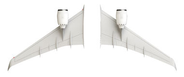 Airplane wings Stock Image