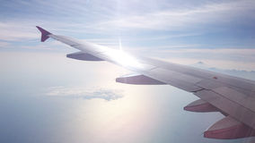 Airplane Wings Royalty Free Stock Photography