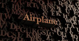 Airplane - Wooden 3D rendered letters/message Royalty Free Stock Photography