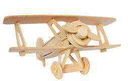 Airplane wooden model Stock Images