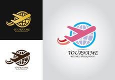 Airplane World Design Logo royalty free illustration