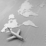 Airplane and world map Stock Image