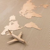 Airplane and world map Stock Photo