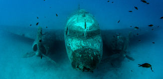 Airplane Wreck Diving. Picture shows a airplane wreck in Turkey royalty free stock photography