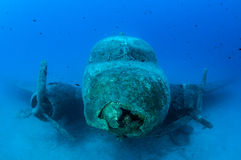 Airplane Wreck Diving. Picture shows a airplane wreck in Turkey stock image