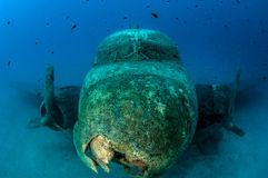 Airplane Wreck Diving. Picture shows a airplane wreck in Turkey royalty free stock images