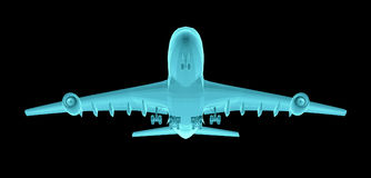Airplane. Xray image Stock Images