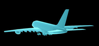 Airplane. Xray image Stock Photo