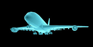 Airplane. Xray image Royalty Free Stock Photography