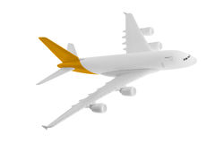 Airplane with yellow color. Royalty Free Stock Image