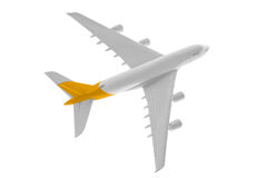 Airplane with yellow color. Royalty Free Stock Photography