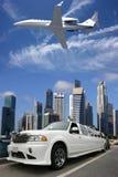 Airplanelimousine in Singapur Stockbild
