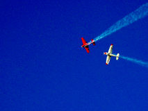 Airplanes in the Blue Sky Royalty Free Stock Image