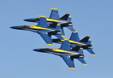 Airplanes. U.S. Navy Blue Angels performing at an airshow in Florida Stock Image