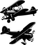 Airplanes. Vector illustration of a airplanes black and white Stock Photos