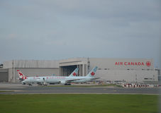 Airplanes of Air Canada Royalty Free Stock Photos