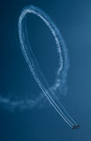 Airplanes at air show. Team of airplanes performing at an air show Stock Photo