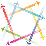 Airplanes and air travel stock illustration