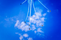 Airplanes on airshow Stock Photo