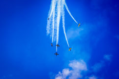 Airplanes on airshow Stock Images