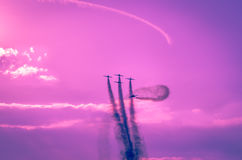 Airplanes on airshow Royalty Free Stock Photo