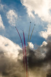 Airplanes on airshow. royalty free stock photo