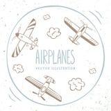 Airplanes around Royalty Free Stock Image